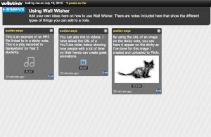 Example of Wall Wisher